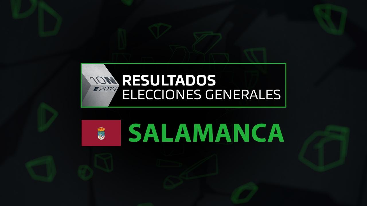 Resultados elecciones generales 10N en la provincia de Salamanca