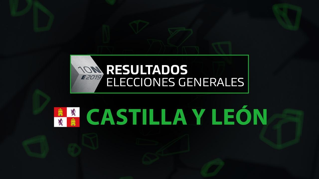 Resultados elecciones generales 10N en la comunidad de Castilla y León