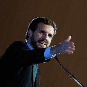 Pablo Casado durante un acto del PP
