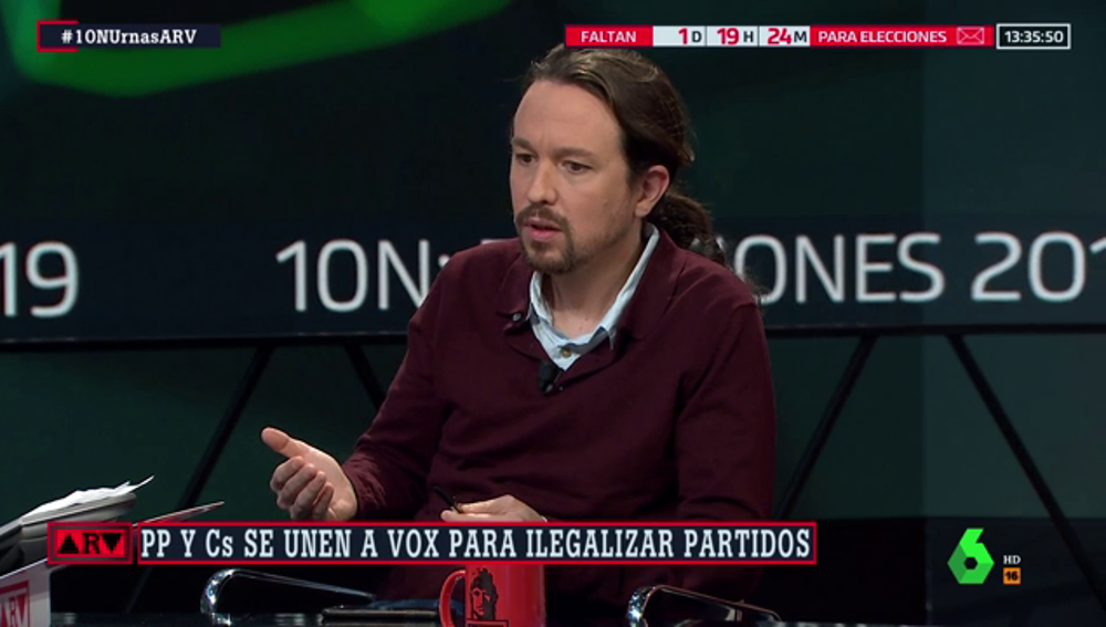"""Iglesias tacha la maniobra de Vox, PP y Cs en la Asamblea de """"fuegos de artificio electoral"""""""