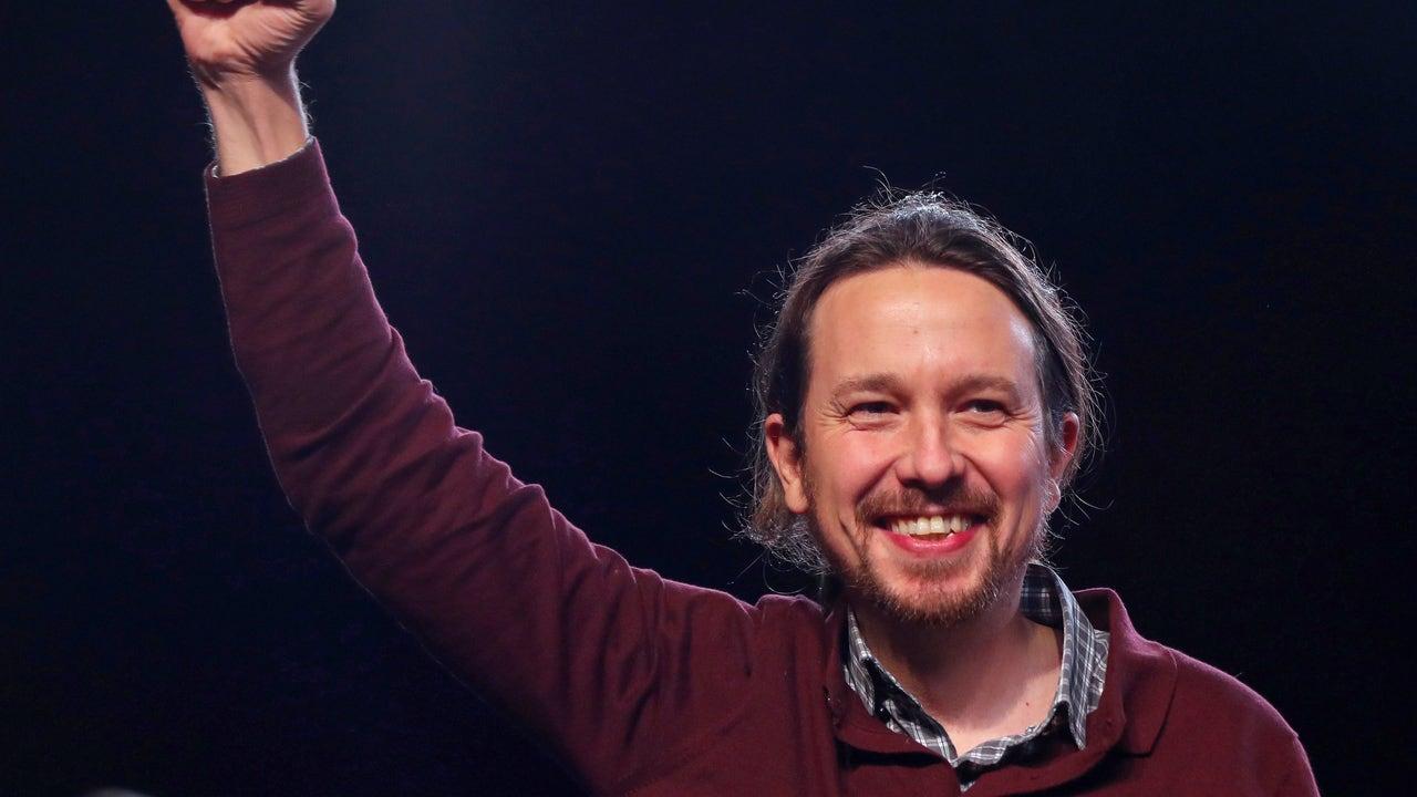 Pablo Iglesias interviene en el acto de cierre de campaña de Unidas Podemos, que ha tenido lugar este viernes en Madrid