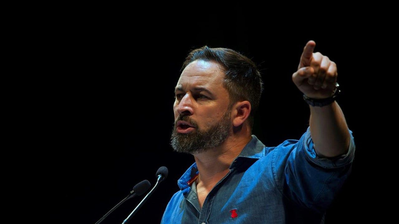 Santiago Abascal durante un acto de Vox (Archivo)