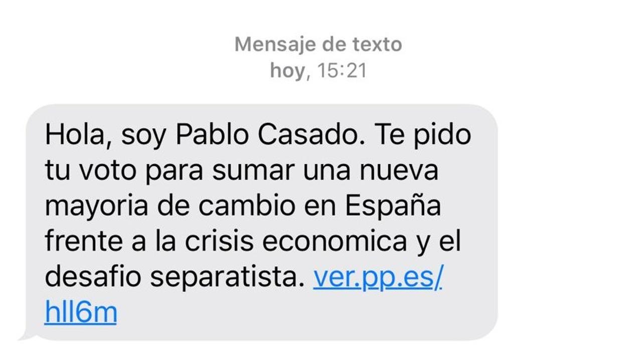 El mensaje del Partido Popular a 1,2 millones de personas