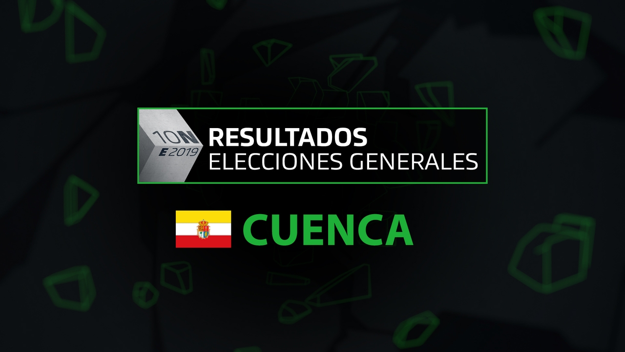 Resultados elecciones generales 10N en la provincia de Cuenca
