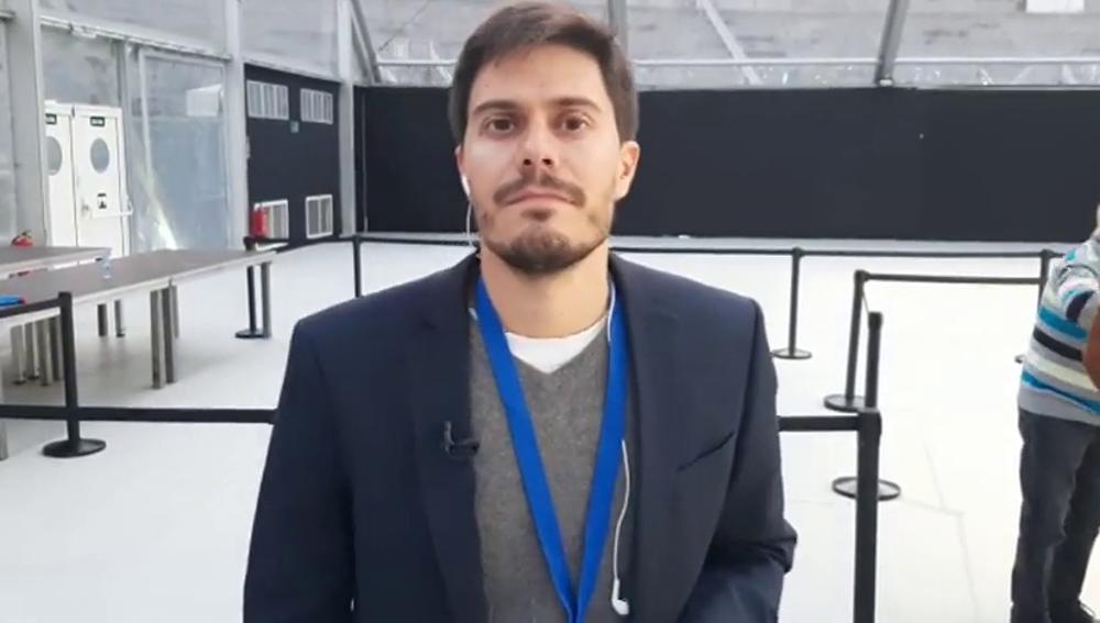 David Junquera antes de un mitin del PP