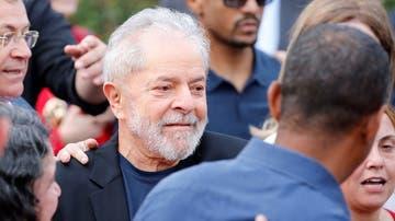 El expresidente brasileño Lula da Silva a su salida de prisión