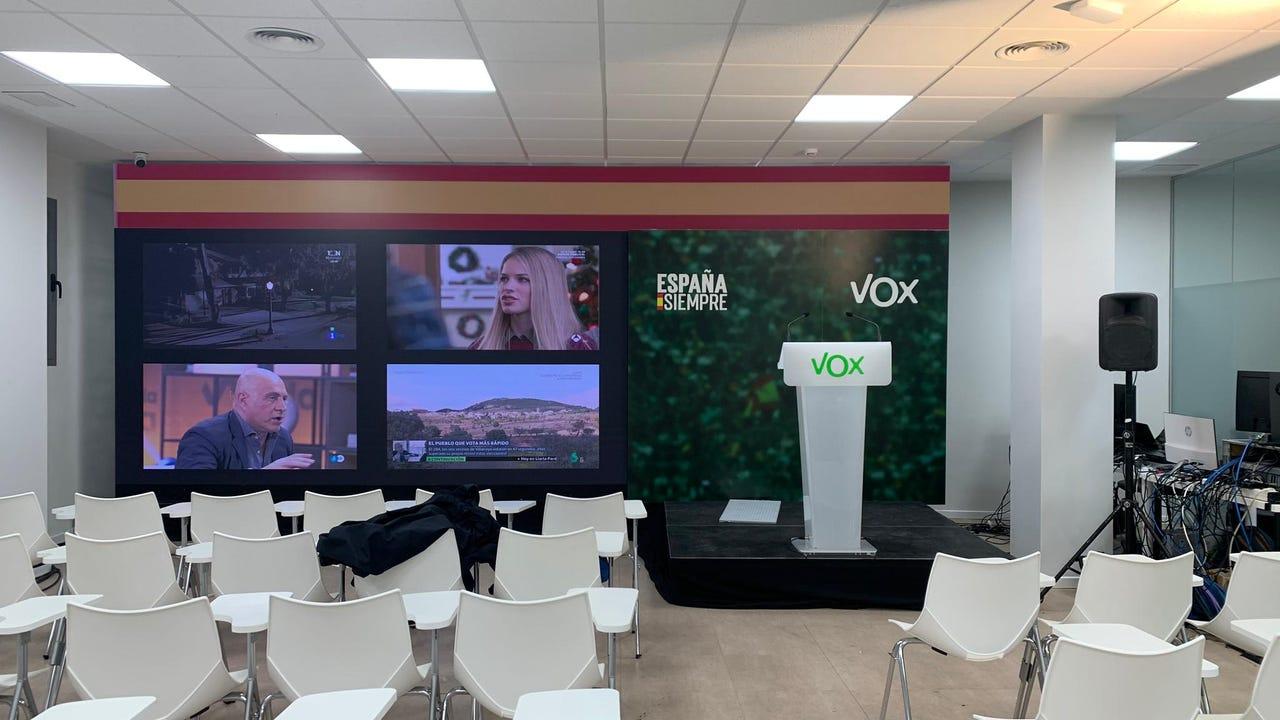 Interior de la sede de Vox