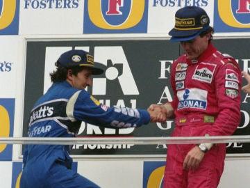 Senna sube a Prost a lo más alto del podio