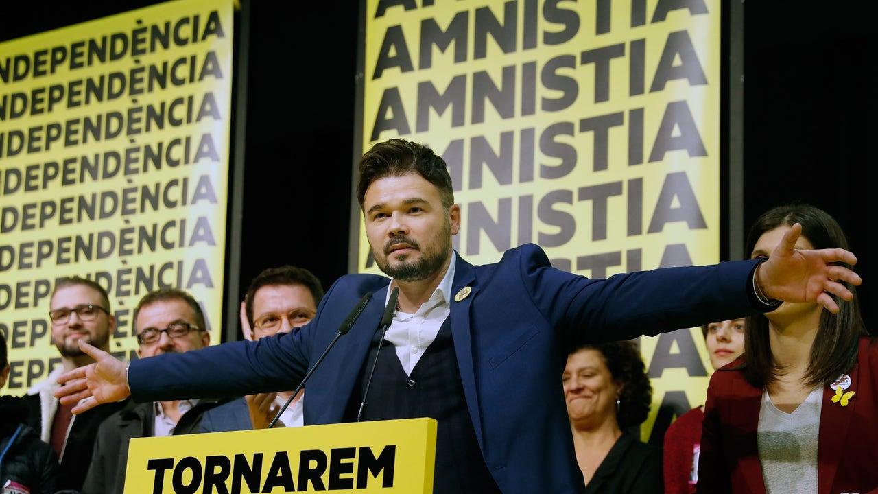 El cabeza de lista al Congreso por ERC, Gabriel Rufián