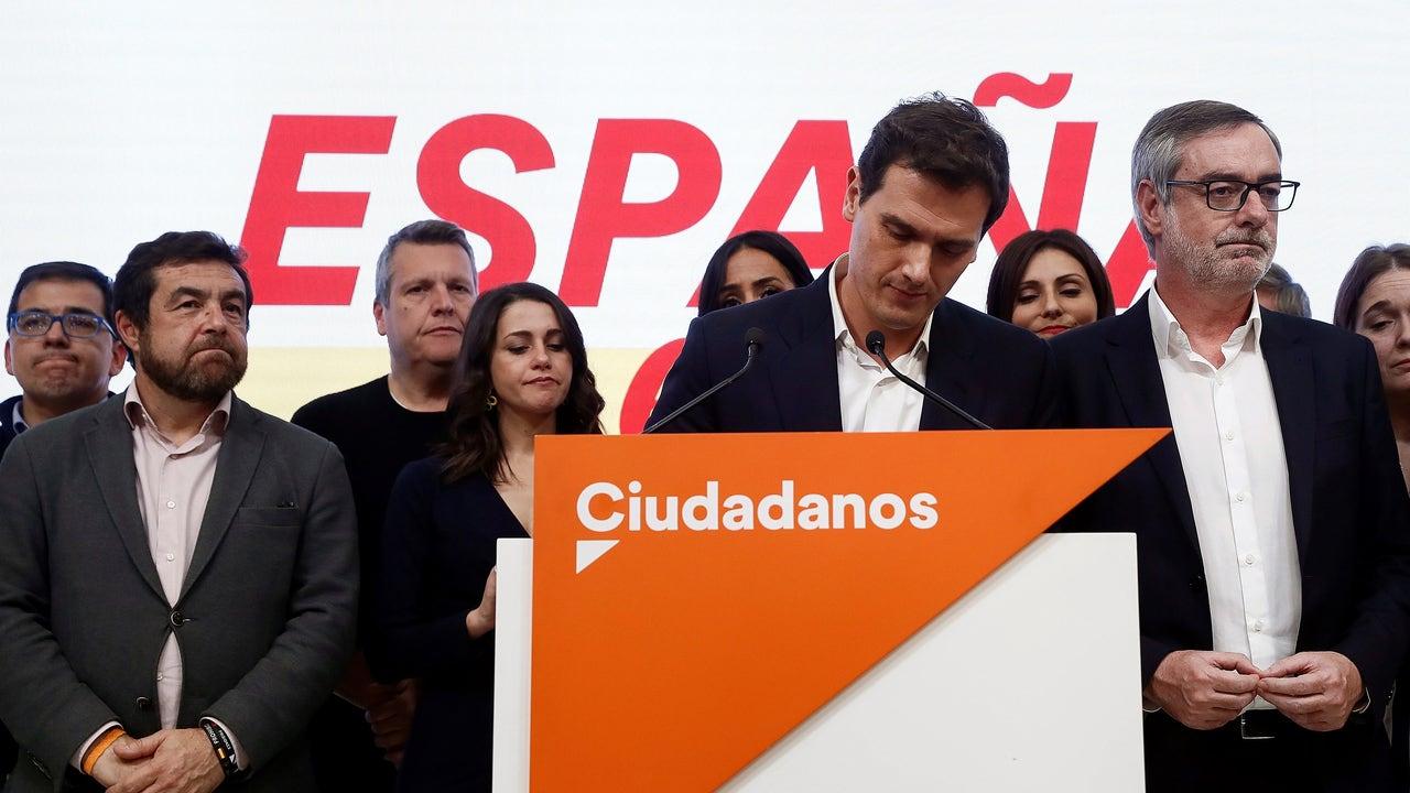 Albert Rivera valora los resultados electorales la noche del 10N