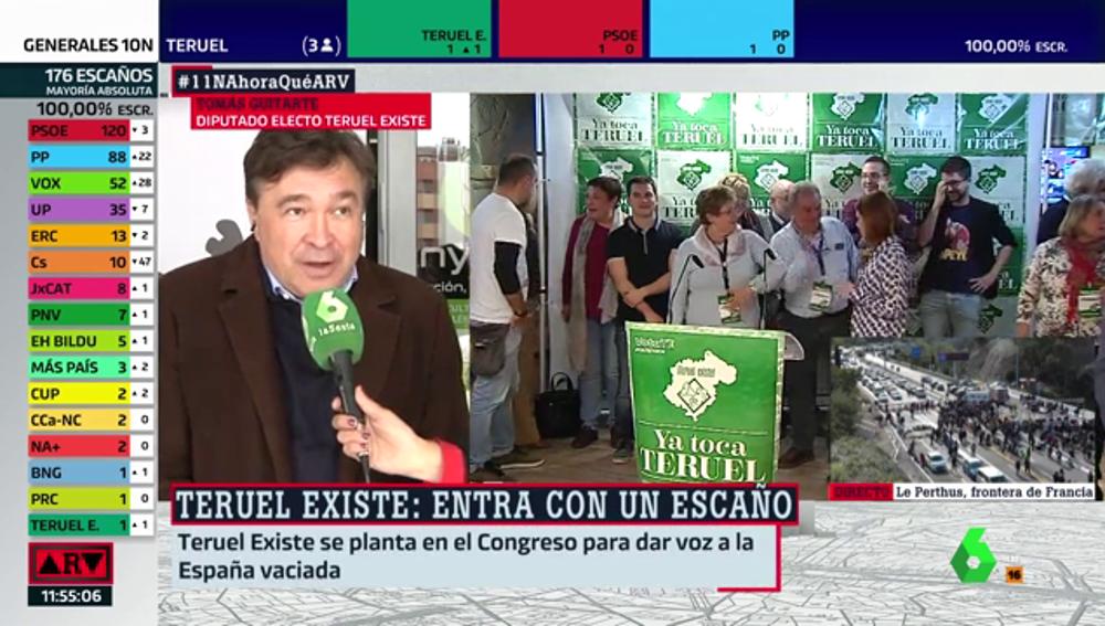 """Tomás Guitarte (Teruel Existe): """"Ha de iniciarse el reequilibrio territorial de españa"""""""