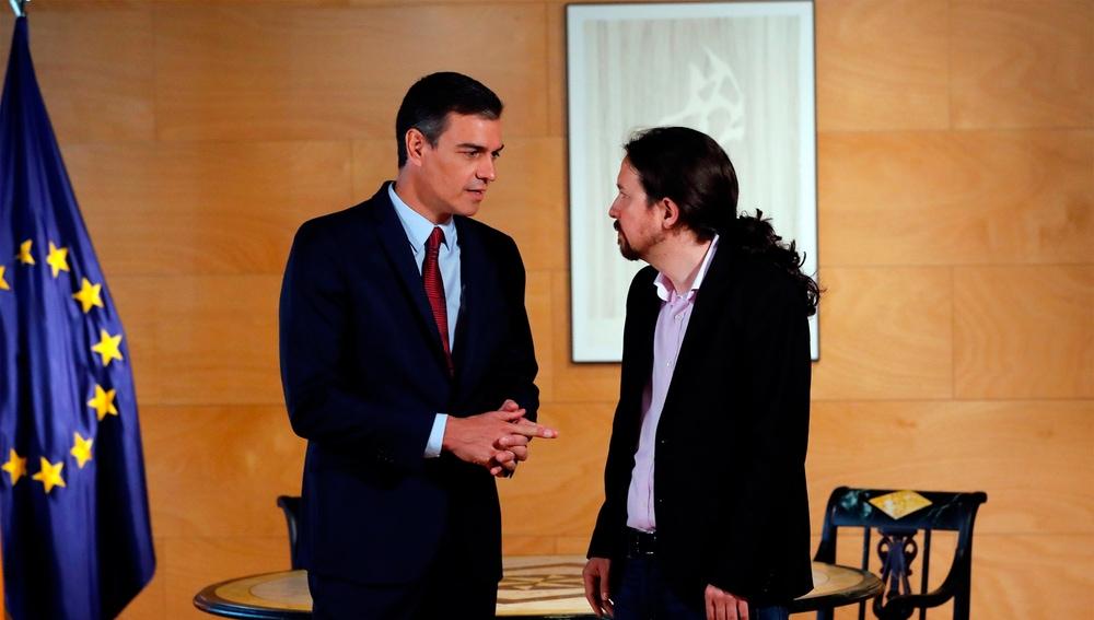Pedro Sánchez y Pablo Iglesias en una foto de archivo