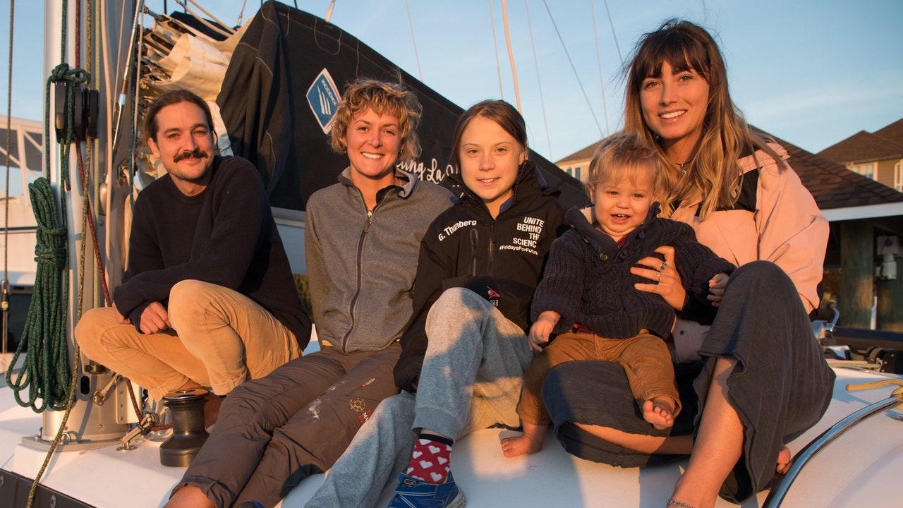 Greta Thunberg, a bordo del catamarán que la traerá hasta Europa