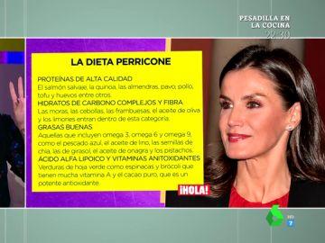 Lorena Castell analiza la sorprendente dieta de la reina Letizia: