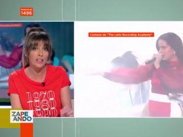 La reacción de Anna Simon a la actuación de Rosalía en los Latin Grammy
