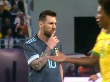 Lionel Messi manda callar a Tite