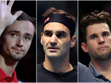 Daniil Medvedev, Roger Federer, Dominic Thiem