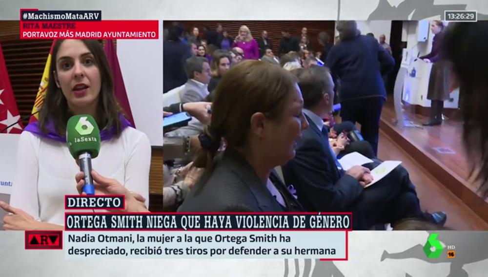 """Rita Maestre: """"Vox está poniendo en marcha una campaña de odio hacia las mujeres. Rechazan que vivamos en libertad"""""""