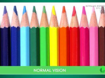 Test de agudeza visual: ¿de qué colores ves estos lápices?