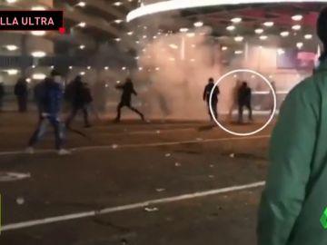 Un padre y su hijo, heridos tras la batalla campal de ultras en Milán