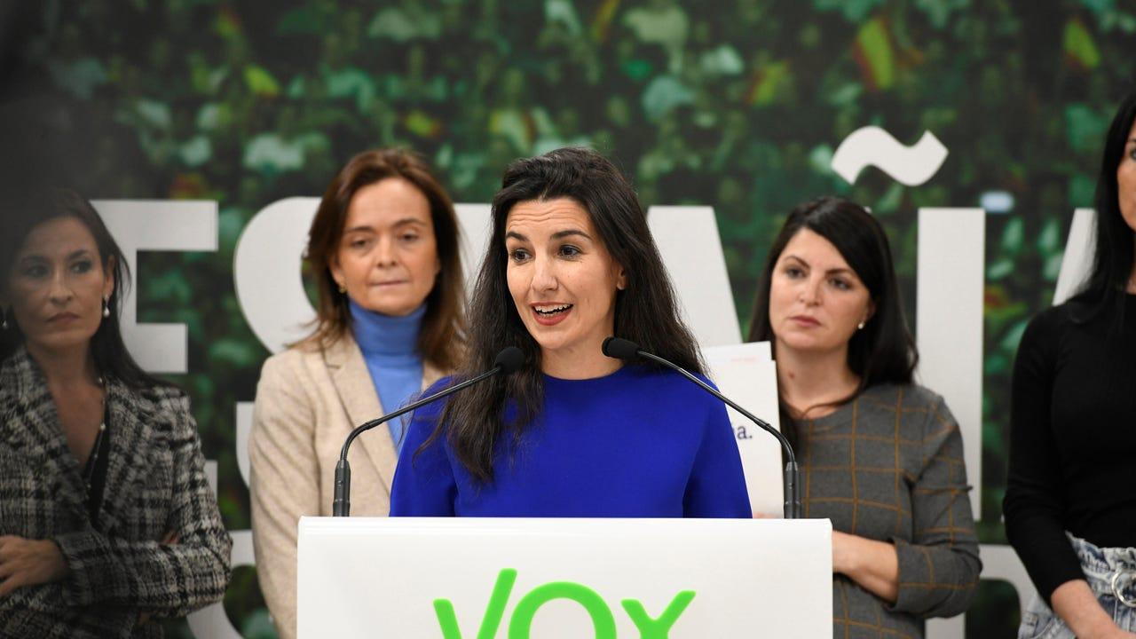 La portavoz de Vox en Madrid, Rocío Monasterio