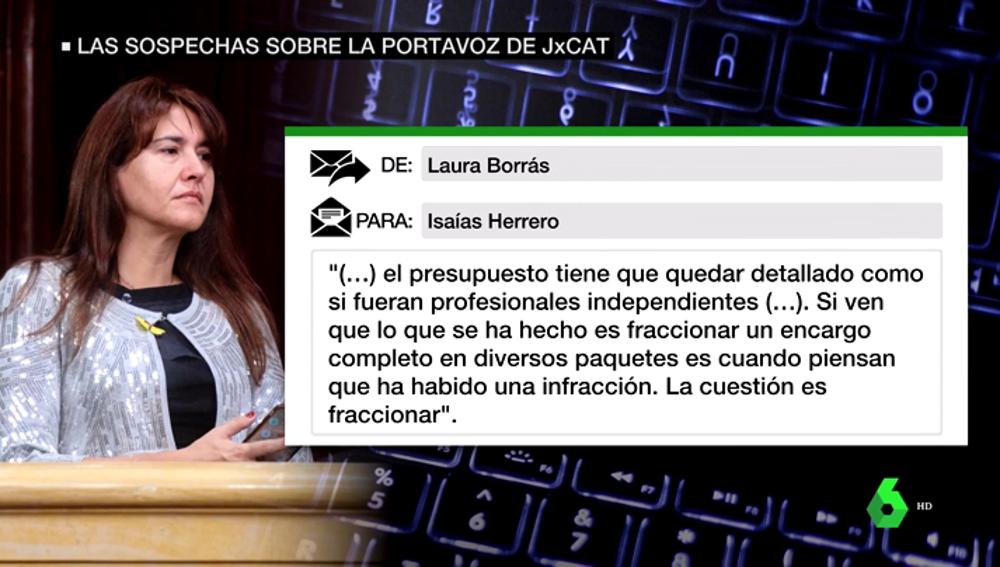 Correo de Laura Borràs