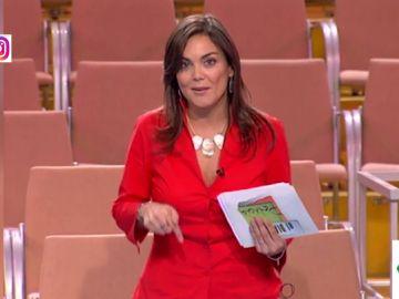 Mónica Carrillo en un casting para presentar 'El diario de Patricia'