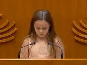Elsa Ramos, durante el discurso