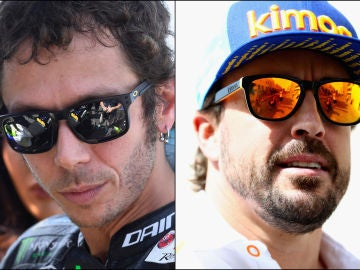 Valentino Rossi y Fernando Alonso