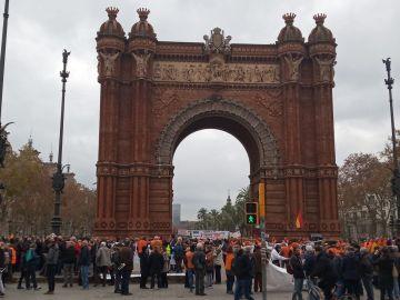Concentración de pensionistas en Barcelona