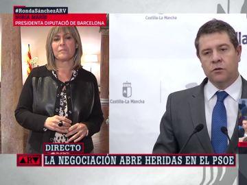 """Nuria Marín (PSC) responde a Lambán y Page: """"Sus comentarios no representan a los vecinos de sus comunidades"""""""