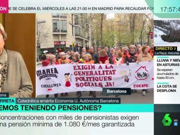La lucha de las pensiones, unida a la de los salarios: cómo garantizar una pensión de 1080 euros con un salario mínimo de 900