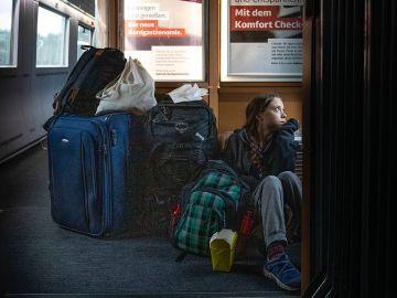 La foto de Greta Thunberg en un tren alemán que ha generado polémica