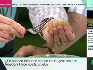 ¿De verdad se pueden comer langostinos y gambas con solo un tenedor?