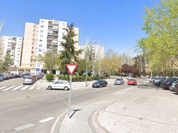 El lugar donde han ocurrido los hechos, en el distrito madrileño de San Blas