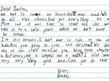 La carta que el pequeño Blake envió a Papá Noel