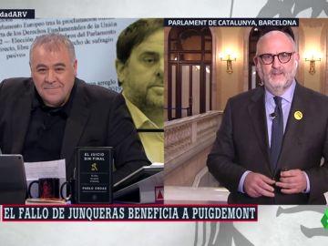 """Eduard Pujol (Junts per Cat): """"La Justicia europea ha dado un bofetón a la española, que está marcada por la represión"""""""