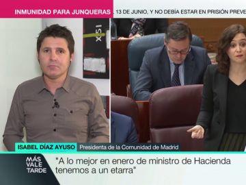 """Cintora responde a Díaz Ayuso: """"De ministro de Hacienda tuvimos a un ladrón, Rodrigo Rato"""""""