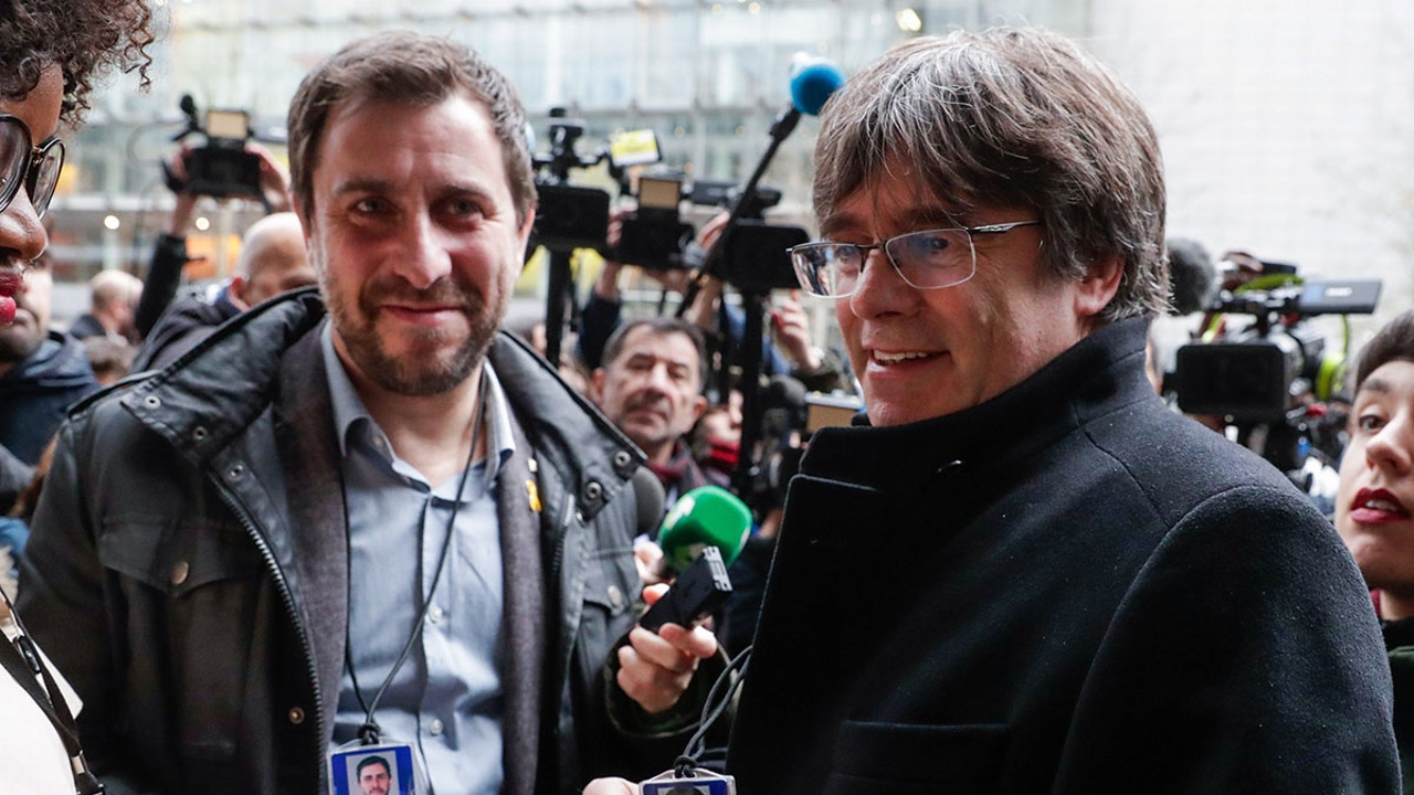 Carles Puigdemont y Toni Comín