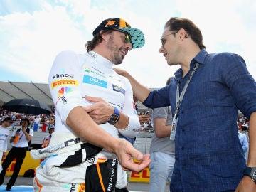 Felipe Massa ve a Alonso en la Fórmula E