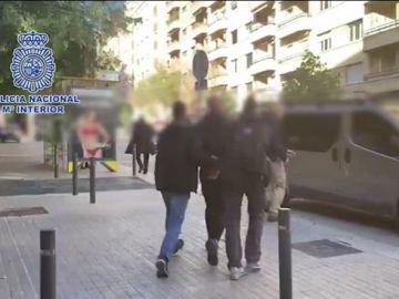 Imagen del fugitivo sueco en el momento de su detención.