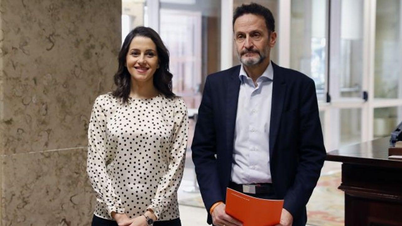 En la foto, Inés Arrimadas y Edmundo Bal