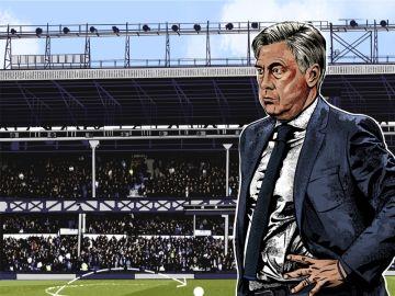 Carlo Ancelotti, en plan dibujo