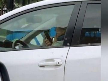 Nueva imprudencia de Esperanza Aguirre al volante