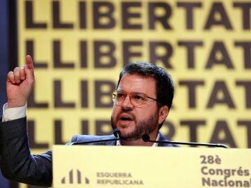 El coordinador general de ERC y vicepresidente de la Generalitat, Pere Aragonés (Archivo)