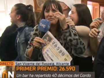 La reportera de TVE que celebra El Gordo como si le hubiera tocado