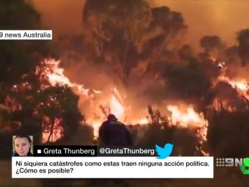 El primer ministro de Australia responde a Greta Thunberg tras acusarle de no actuar ante los incendios