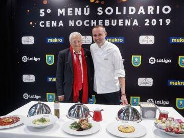 El padre Ángel y el chef Rodrigo de la Calle presentan cena solidaria de Nochebuena