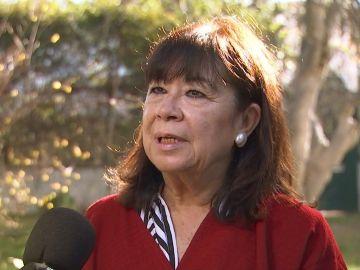 Cristina Narbona, presidenta del PSOE, pronunciándose sobre el discurso del rey Felipe