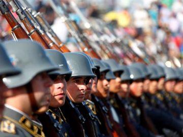 Imagen de archivo de soldados chilenos